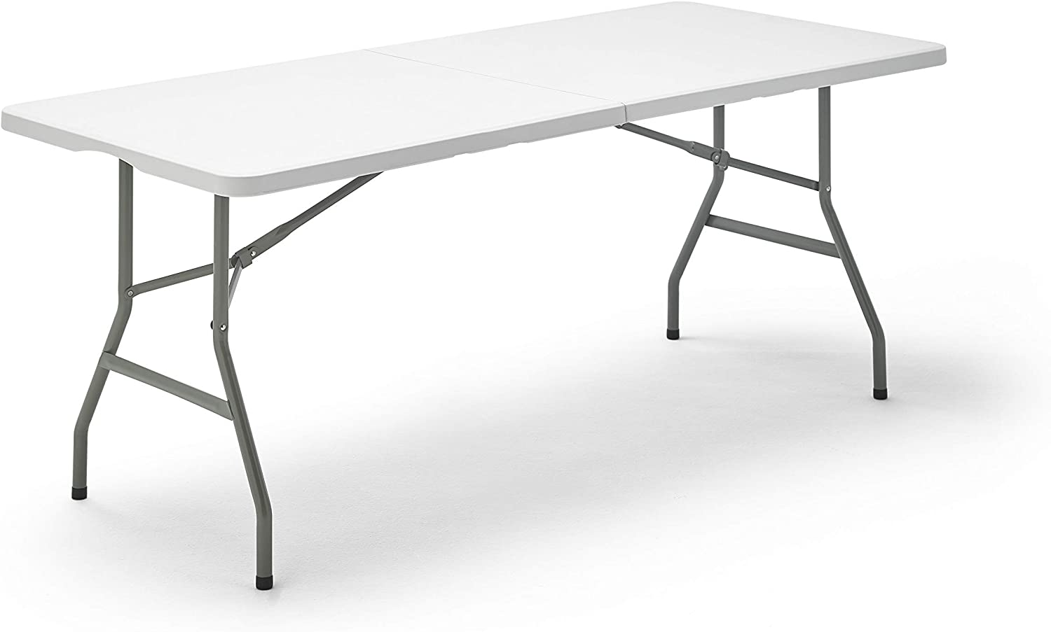 Mesa Plegable Rectangular, 180 x 74 x 74 cm, color blanco (Tenco  TG180)