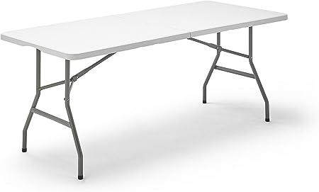 Tenco Tg180 Table Pliante Transportable Table En Plastique Robuste 180 Cm Blanc Amazon Fr Cuisine Maison