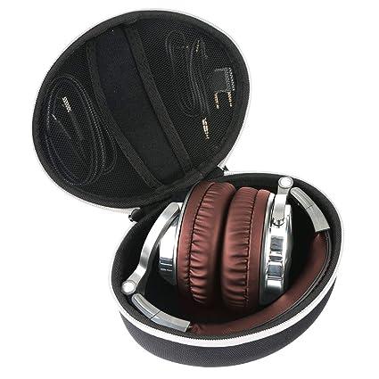 Khanka Duro Viaje Estuche Bolso Funda para oneodio Auriculares de Studio (White Zipper): Amazon.es: Electrónica