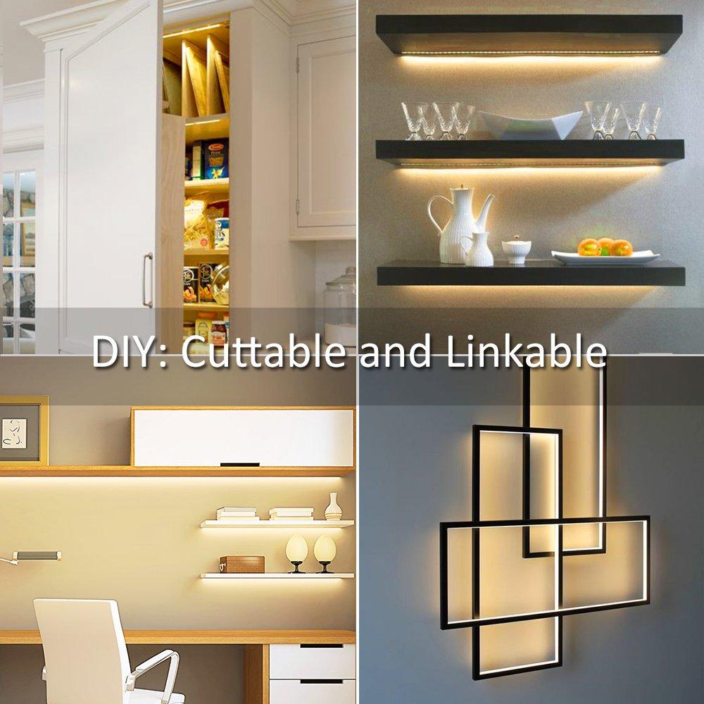 3000K Warm White,... Counter Lighting MEIKEE LED Under Cabinet Lighting Kit