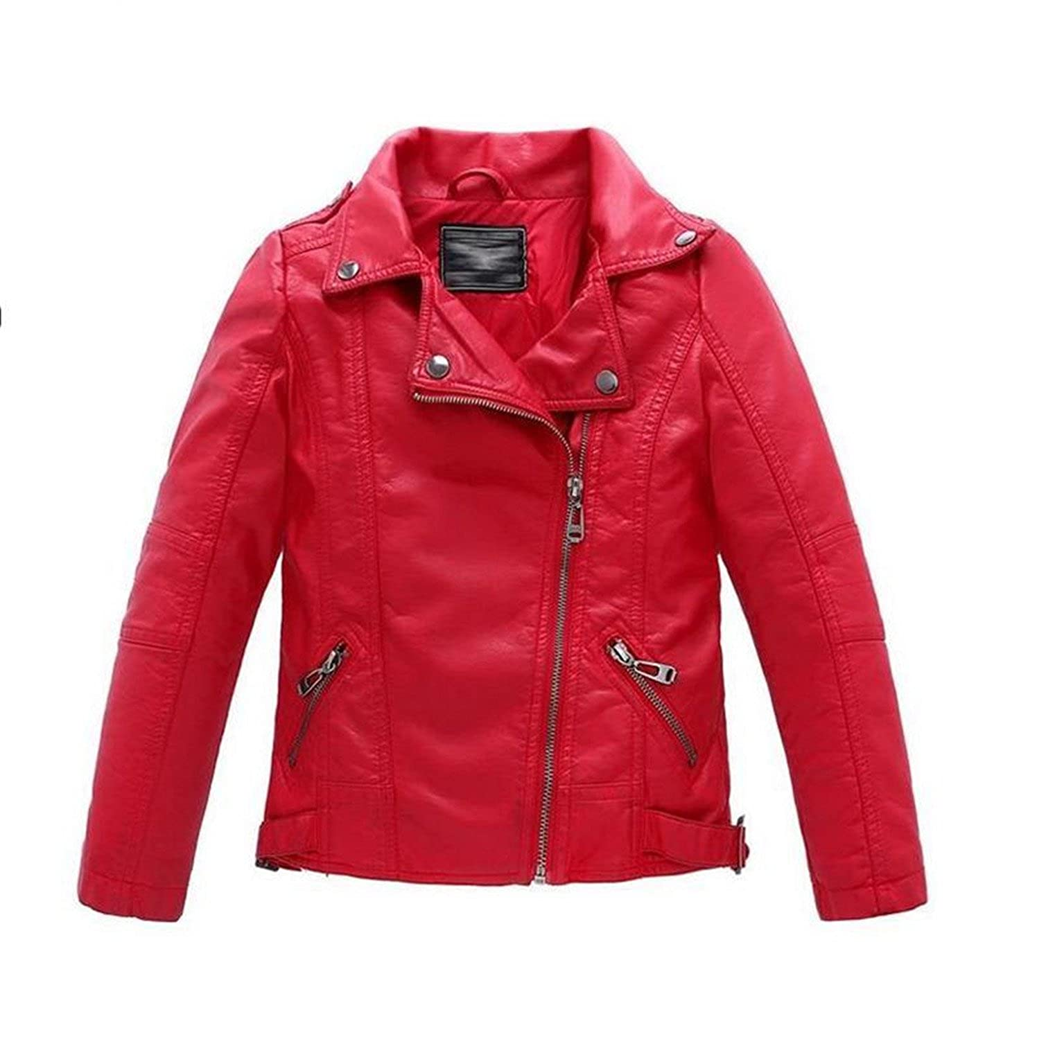 Amazon.com: Daerwen Girls Coats Teenager Toddlers Boys Leather Jackets Fashion Spring Autumn Children Outerwear New New Black Red Kids Clothes fashion: ...