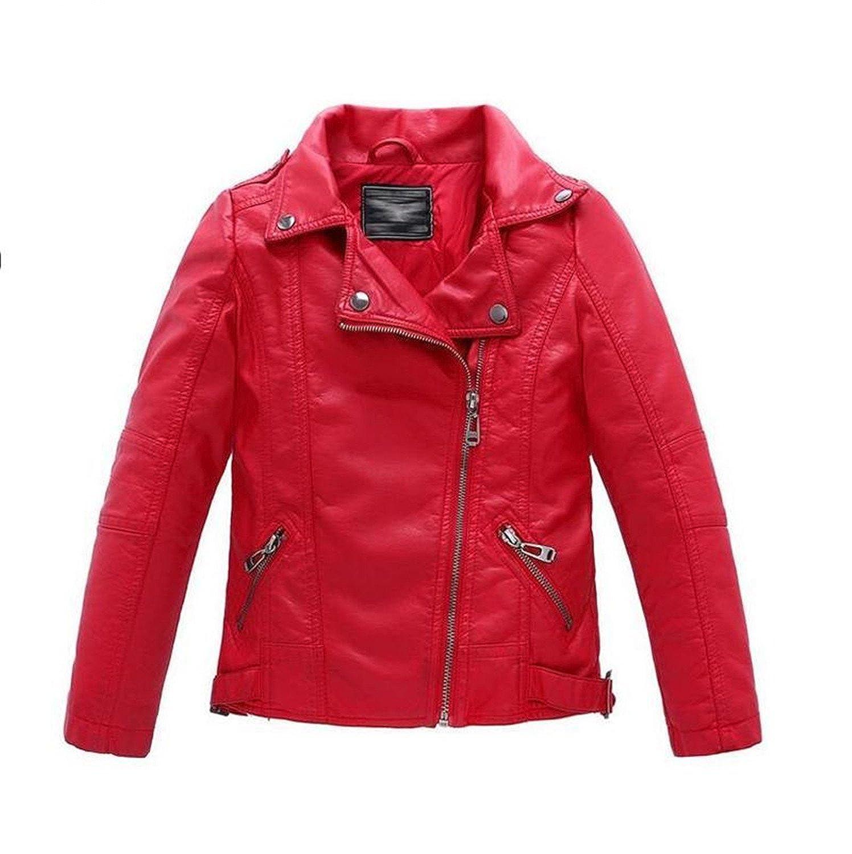 Amazon.com: MRxcff Teenager Baby Boys Leather Jacket Boys ...