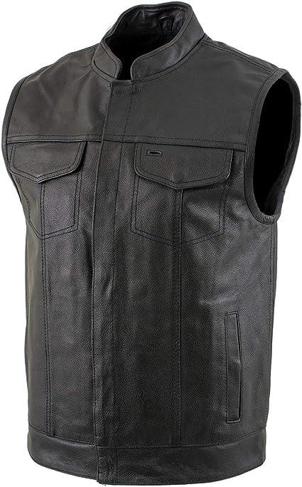 Xelement Delta Men/'s Leather Motorcycle Jacket