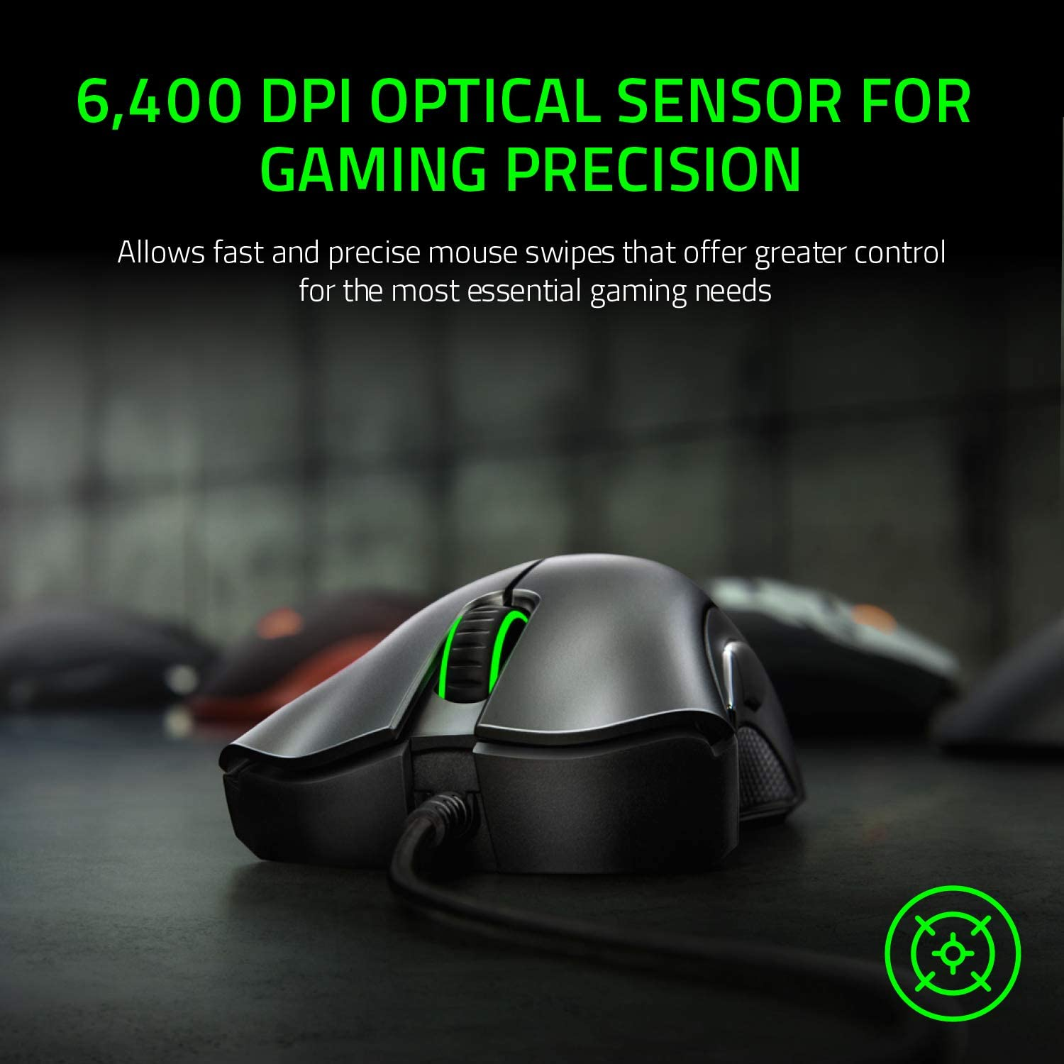 Razer DeathAdder Essential Wired Gaming Mouse 6400 DPI OPTICAL SENSOR FOR GAMING PRECISION