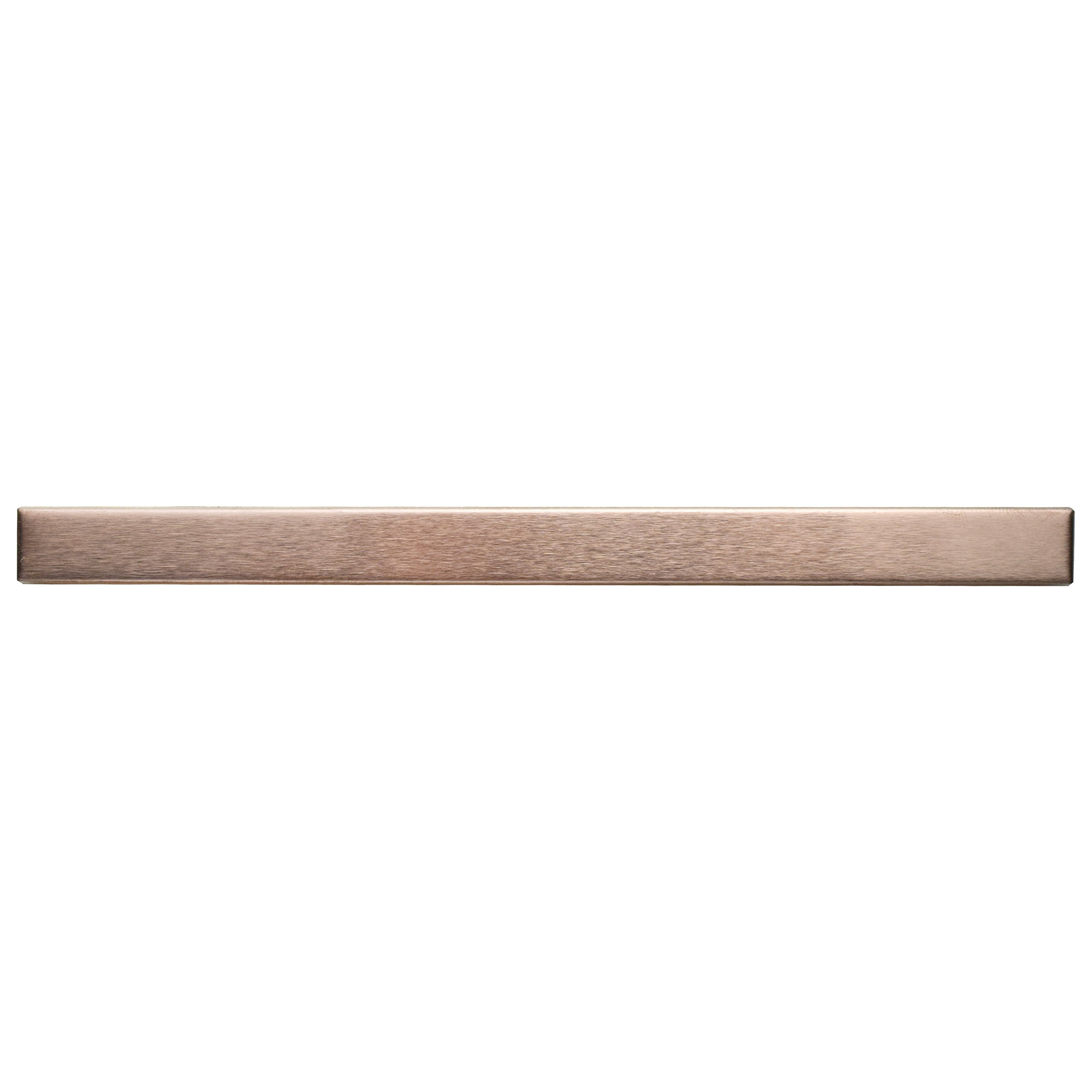 SomerTile MITSSCST Allia Stick Stainless Steel Over Porcelain Wall Trim Tile, 3/8'' x 5 3/4'', Copper
