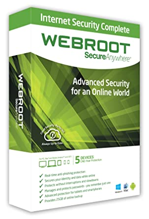 Webroot secure anywhere~for pc/mac/mobile (android & ios)~3.
