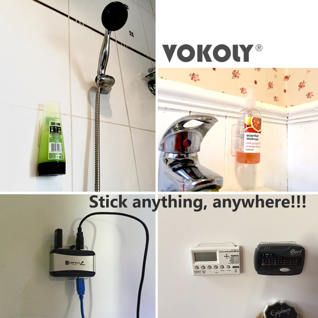 VOKOLY, Universal non-slip mats,Sticky Anti-Slip Gel Pads,Stick to Anywhere&Holds Anything (8 PACK Clear) by VOKOLY (Image #4)