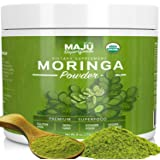MAJU's Organic Moringa Powder: NON-GMO, Guaranteed Purest, 100% Raw Moringa Oleifera Leaf Powder made with Leaves, Works in Tea