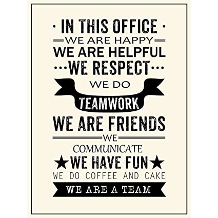 Inspirational Quotes We Are A Team Posters Prints Motivational Motto Wall  Art Decor Office Teamwork Hanging