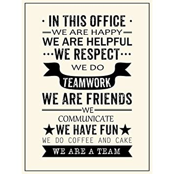 Team Quotes Amazon.com: Inspirational Quotes Office Posters Prints We are A  Team Quotes