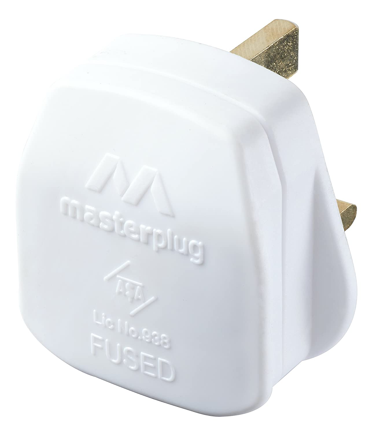 Masterplug PT133W 13amp Plug with 3amp Fuse - White PT133W-MS