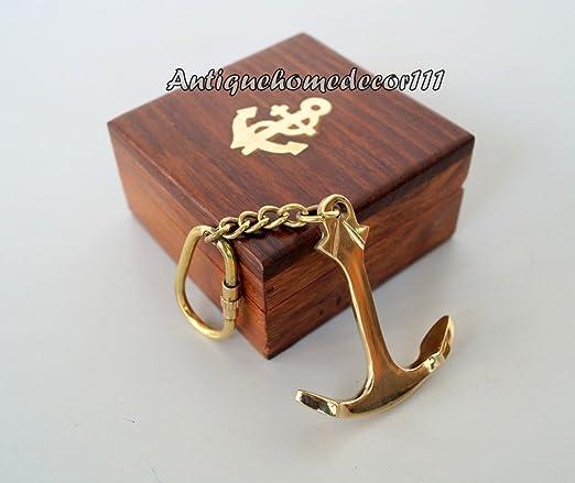 Safa Nautical Collectibles - Llavero Coleccionable de latón con Caja de Madera C: Amazon.es: Hogar
