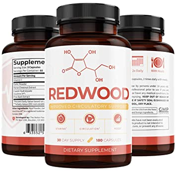 UMZU: Redwood: 100% Natural Nitric Oxide (30-Day Supply) - May Improve  Blood Flow and Lower Blood
