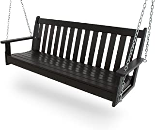 """product image for POLYWOOD GNS60BL Vineyard 60"""" Swing, Black"""