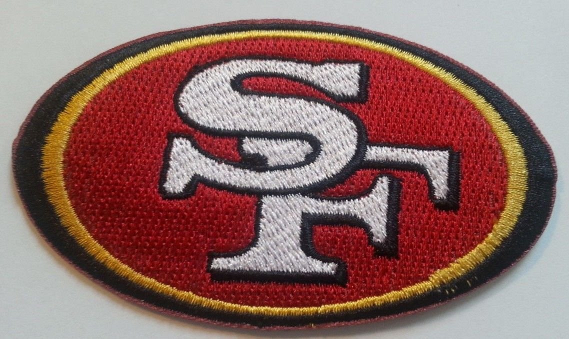 San Francisco SF 49ers Logo Iron// Sew-on Embroidered Patch Jacket Badge