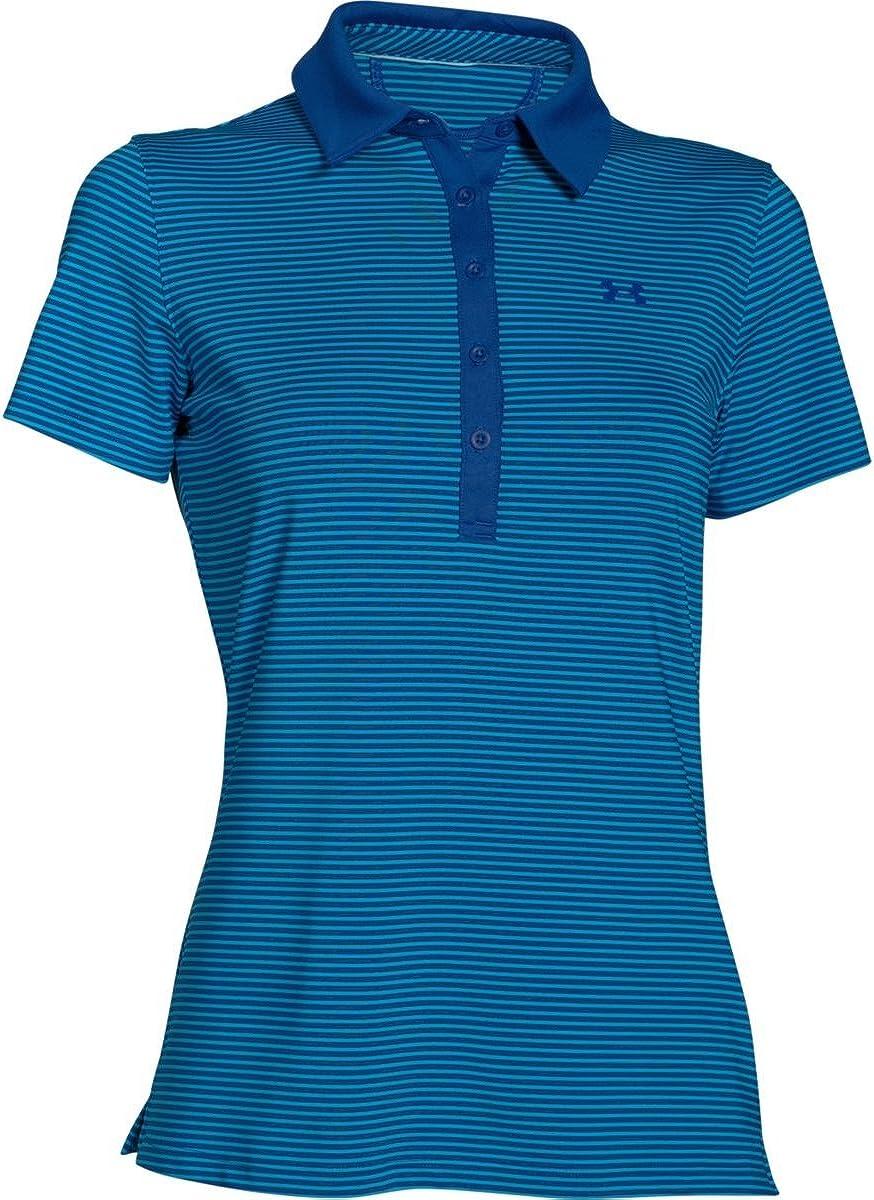 Under Armour Womens Zinger Stripe Short Sleeve Polo Shirt