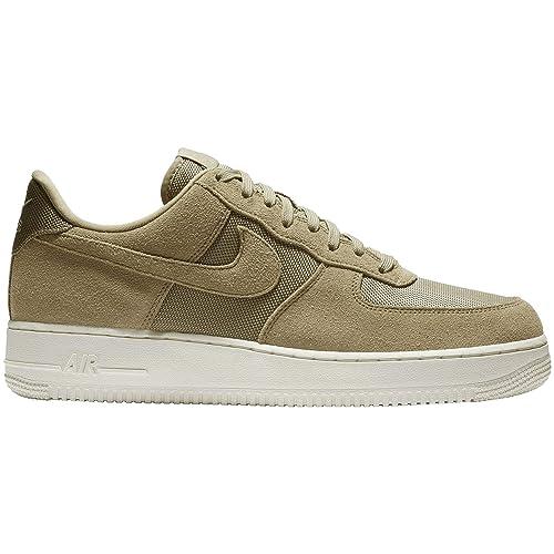 Nike Men's Air Force 1 '07 SuedeTextile Sneakers (Parachute Beige Pale Ivory, 8 M US)