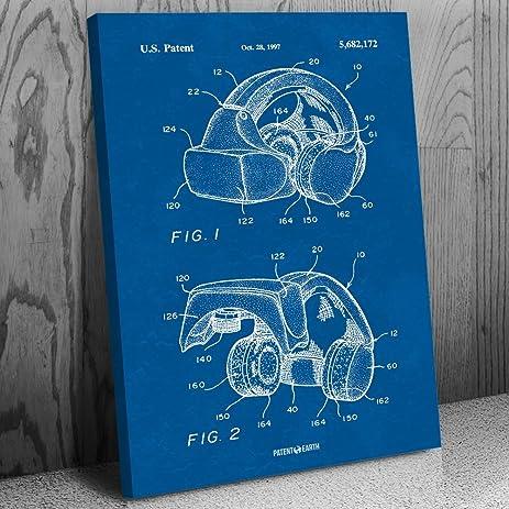 Amazon forte vfx1 virtual reality vr headgear canvas patent art forte vfx1 virtual reality vr headgear canvas patent art print blueprint 12quot malvernweather Gallery