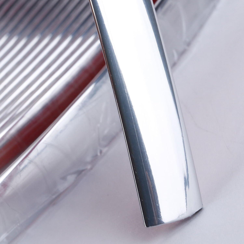 15 m f/ür Auto-Fenster//Sto/ßstange selbstklebende Zierleiste Chrom 20 mm flexibel