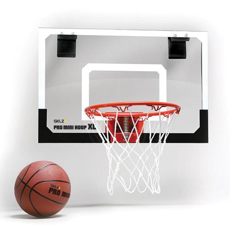 SKLZ HP01-000-02 B/üro Zimmer T/ür Basketballkorb Pro Mini Hoop XL White//orange