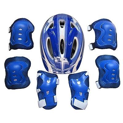 Équipement de protection enfants casque de protection poignet Tribe Set de 7Genouillères Protège-coudes, CT Kit de protection pour les enfants (env. 6–12ans)