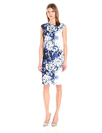 dc320a4e Vince Camuto Women's Printed Scuba Crepe Bodycon Dress at Amazon ...