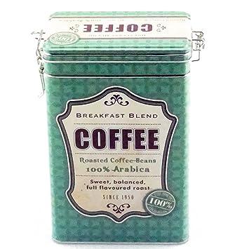 Kaffeedose Vorratsdose Vintage, eckig, für 500g, grün: Amazon.de ...
