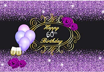 Zhy 7X5FT Pure Purple Photography Backdrop Sparkling Romantic Valentine Wedding Party Photo Background Baby Shower Newborn Kids Theme Party Backdrop Studio Photo Booth Props CHE162