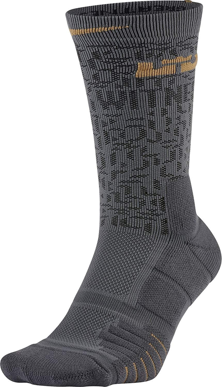 Nike Men`s Elite LeBron Quick Basketball Crew Socks