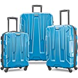 Samsonite Centric Expandable Hardside Luggage Set with Spinner Wheels, 20/24/28 Inch, Caribbean Blue