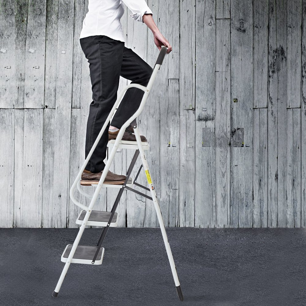 KARMAS PRODUCT Folding 4 Step Ladder with Handrails for Home,Anti-Slip Safty Steel Step Stool 300LB by KARMAS PRODUCT (Image #8)