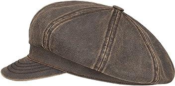 STETSON Safford Old Cotton Newsboy Cap Ballonmütze Baker Boy Baumwollcap