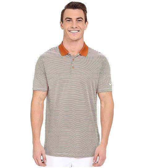 Nike Golf Victory Mini Stripe Polo (Desert Orange White) (Small ... f7381b54e55b1