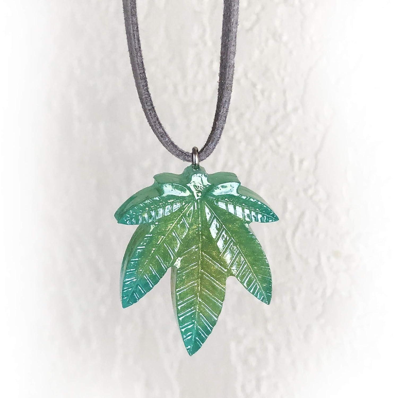 Amazon com: Cannabis Marijuana (Hemp) Leaf Pendant