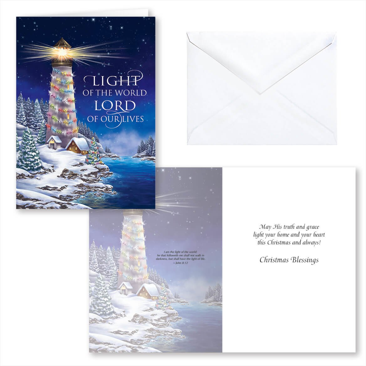 Amazon.com: Light of The World Christmas Card Set of 20: Health ...