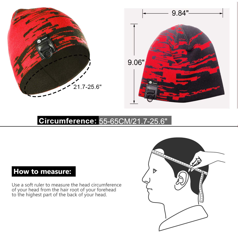 Botack Winter Warm Hats Mens Women Skull Beanie Hat Knitted Dual Layer Caps Running Hiking Skiing Camping Sports