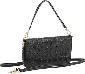 StilGut Smart Wallet en cuir - Pochette, sac, housse portable et sac à bandoulière, Croco