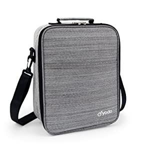Yodo Reusable Lunch Bag Tote Large Insulated Lunch Box for Adults Men 25% LARGER Storage, Ideal for Meal Prep, Everyday Lunch to Work or School, Grey