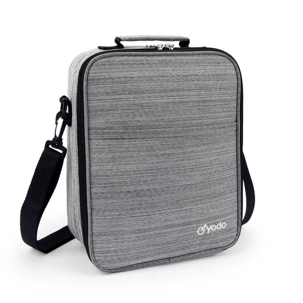 Yodo Large Reusable Adults Lunch Box Tote Large Insulated Lunch Bag for Men - Ideal for Meal Prep, Picnics, Road Trips, Everyday Lunch to Work or School, Grey by yodo