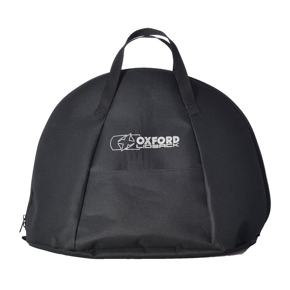 Oxford Lidsack Motorcycle Helmet Bag Motorbike Storage Luggage Water Resistant Portable Carry Bag Black