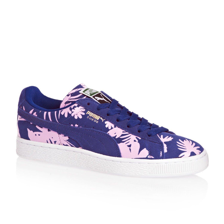 ea549242412b Galleon - PUMA Women s Suede Classic Tropicalia Spectrum Blue Leather  Sneakers - 4 US