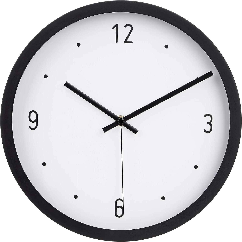 """AmazonBasics 12"""" Dot Wall Clock - Black"""