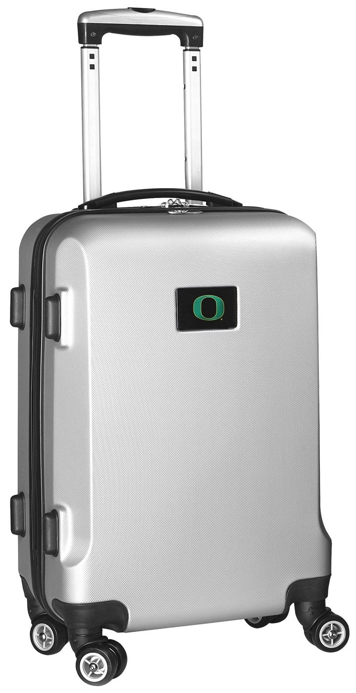 NCAA Oregon Ducks Carry-On Hardcase Spinner, Silver by Denco