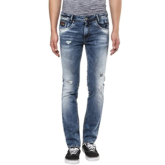 799ad771fcbe Mufti Mens Low Rise Super Slim Fit Jeans  Amazon.in  Clothing   Accessories