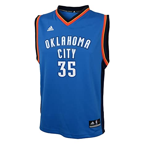 8944a5d25fe9 NBA Oklahoma City Thunder Durant K   35 Boys 8-20 Replica Road Jersey