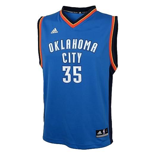 639e5f2000a Amazon.com : NBA Oklahoma City Thunder Kevin Durant #35 Youth Replica Road  Jersey, Blue : Sports Fan Jerseys : Clothing