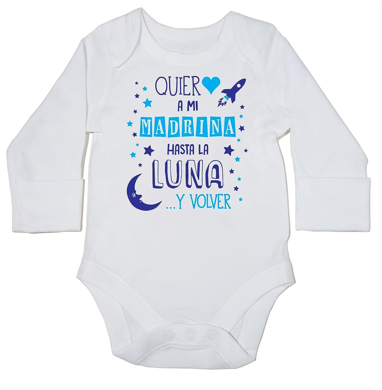 body manga larga bodys pijama ni/ños ni/ñas unisex Azul HippoWarehouse /¡Quiero a mi Madrina hasta la Luna y volver!