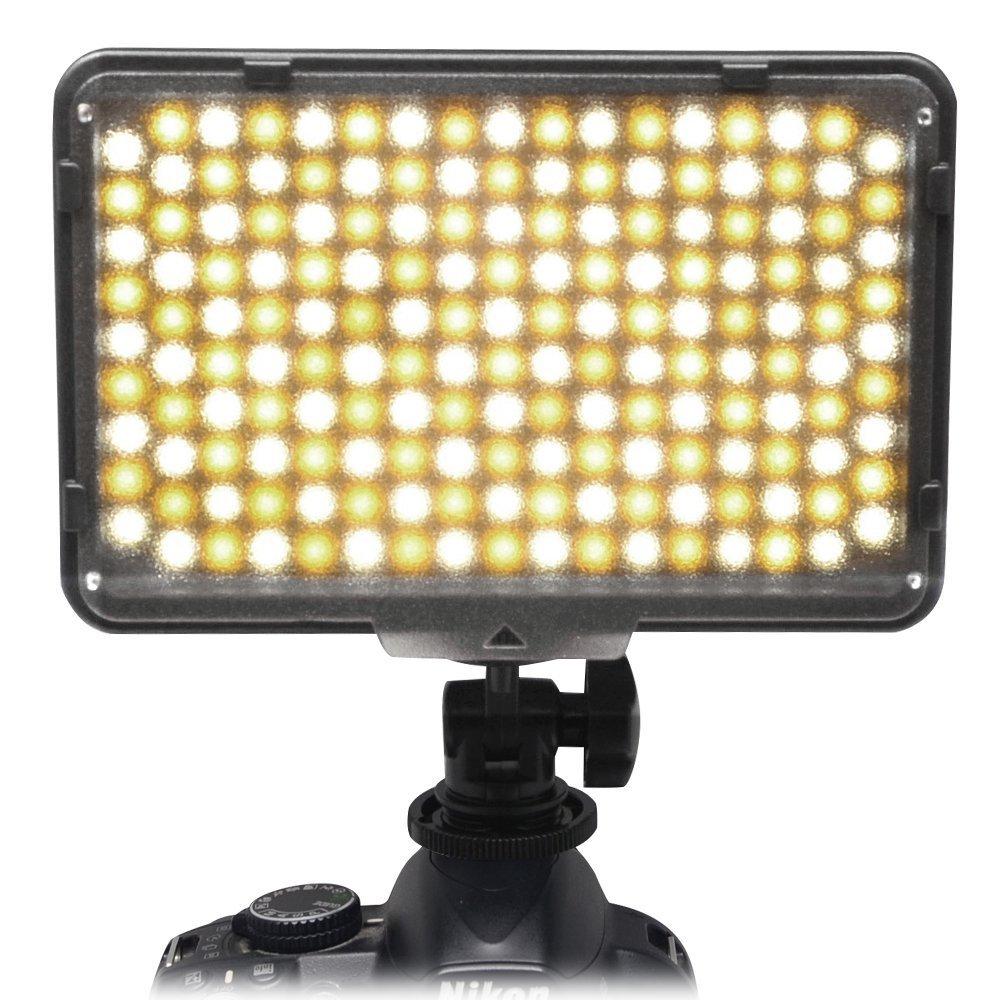 Mcoplus 168 Bi-Color LED Dimmable Digital Camera/Camcorder Video Panel LED Light for Canon Nikon Pentax Panasonic SONY Samsung Olympus DSLR Cameras DV Studio Photography