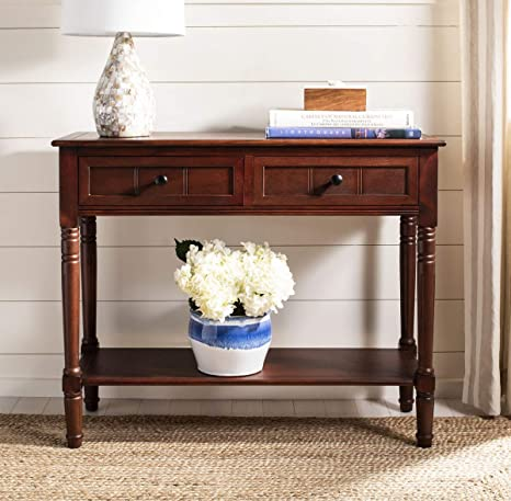 Safavieh American Homes Collection Samantha Distressed//Black 2-Drawer Console Table