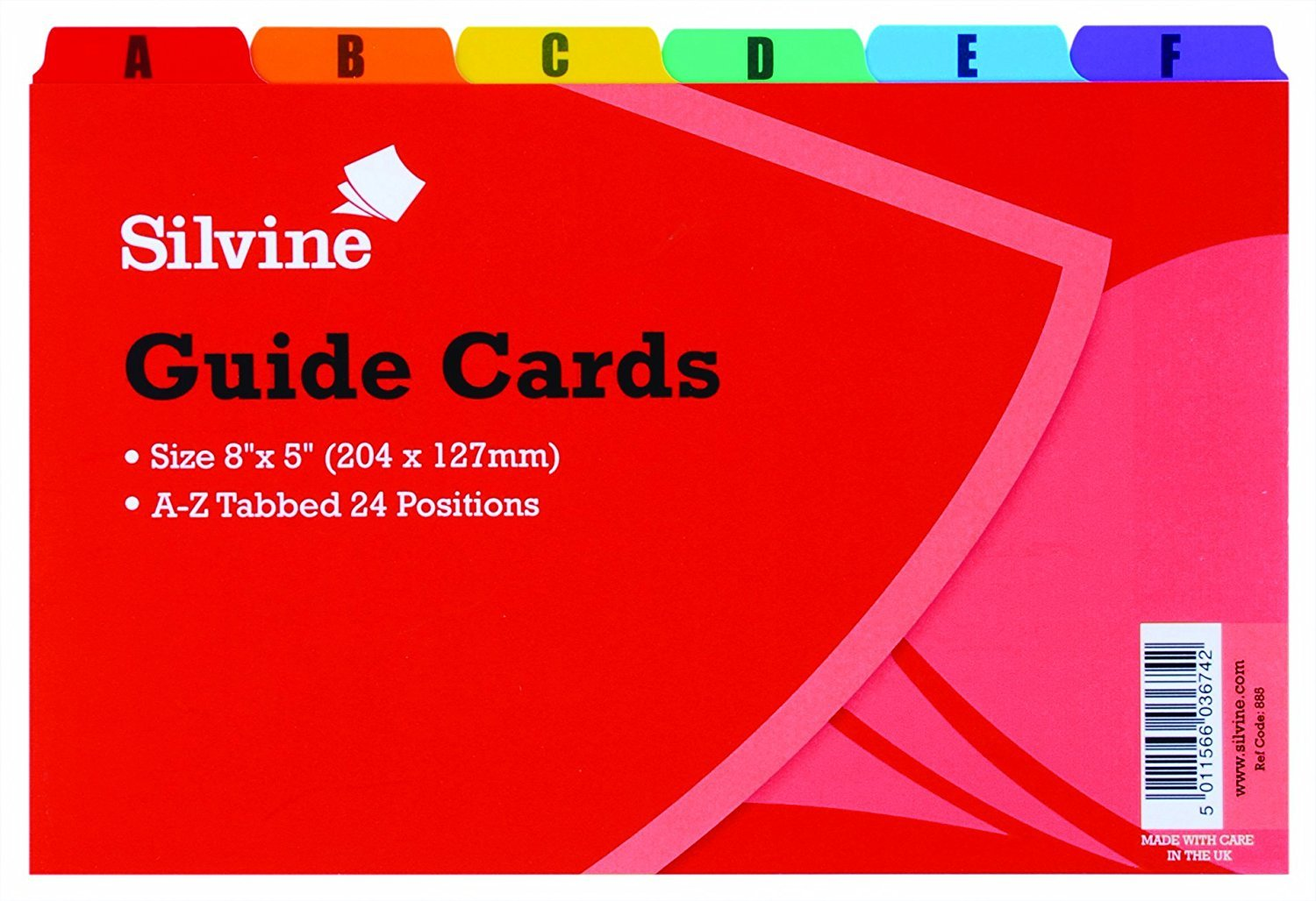 Silvine 8 x 5inch Guide Cards 885